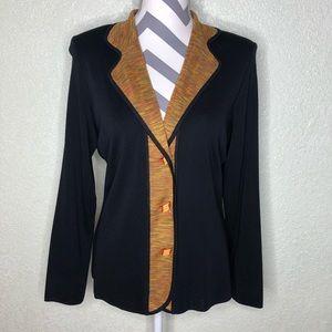 Misook Button Down Blazer Coat Jacket Size S